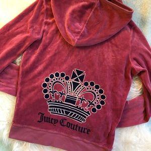 •Juicy Couture• velour zip up sweatshirt